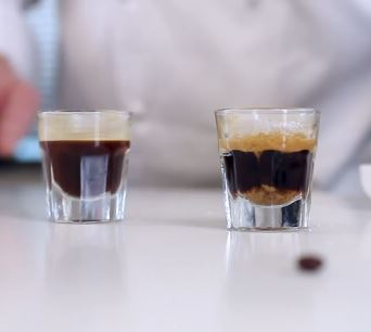 Heston demonstrates how a proper espresso should look like