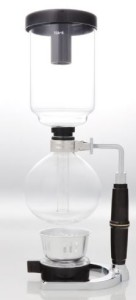 Brew coffee with syphon coffee maker