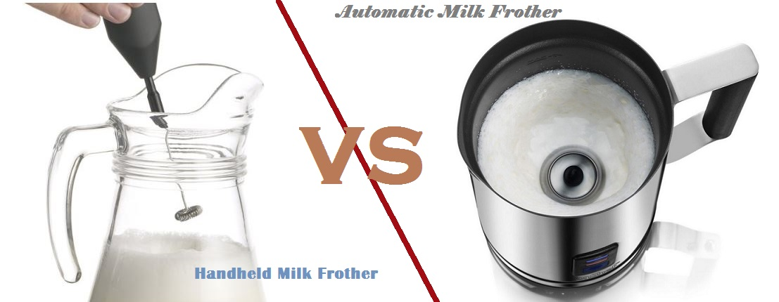 handheld milk frother vs automatic milk frother