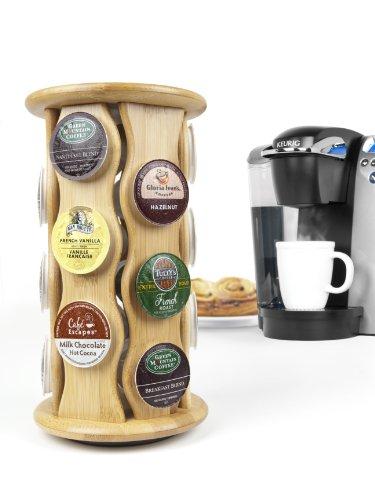 Bamboo coffee pod holder